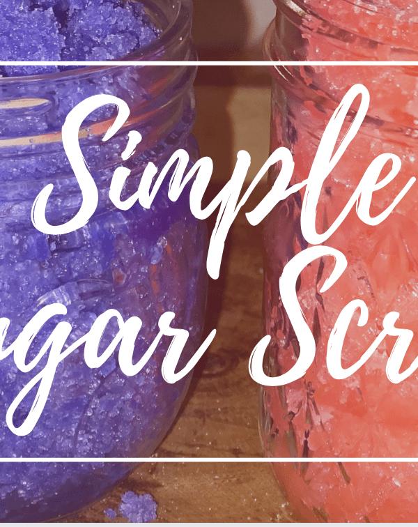 DIY Simple Sugar Scrub