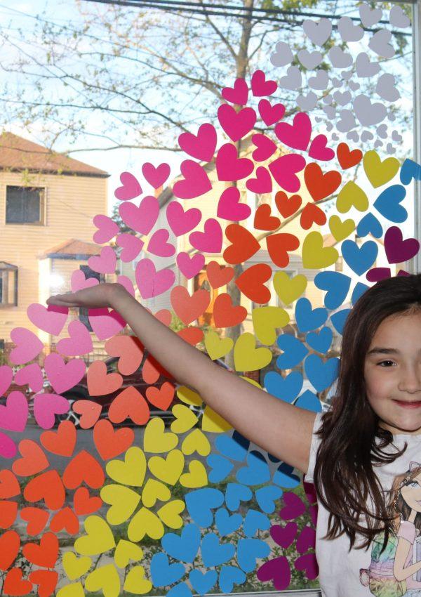 Rainbow Window Art Project