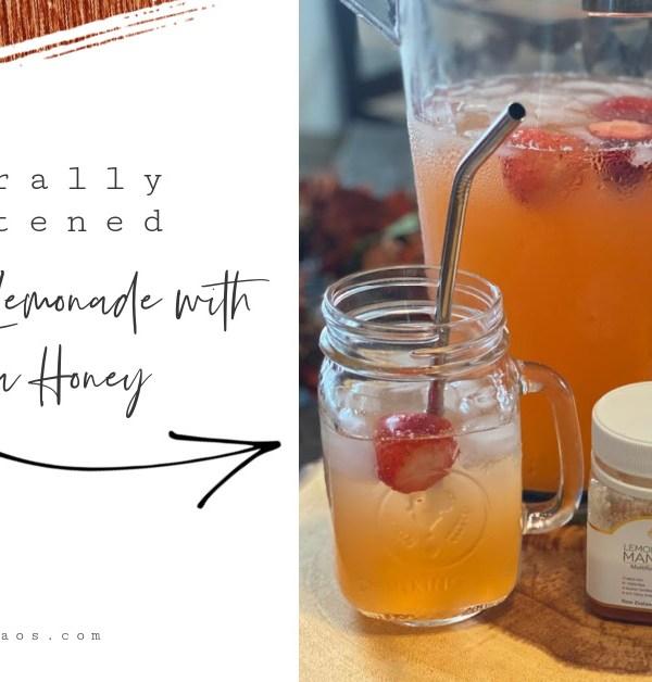 Naturally Sweetened Strawberry Lemonade with Manuka Honey
