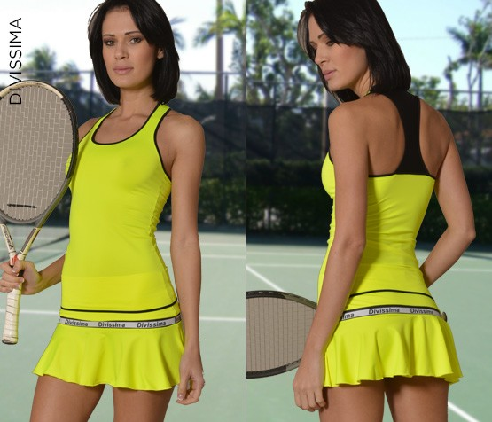 set-tennis-gonna-fluo-giallo-canotta-fluo-giallo