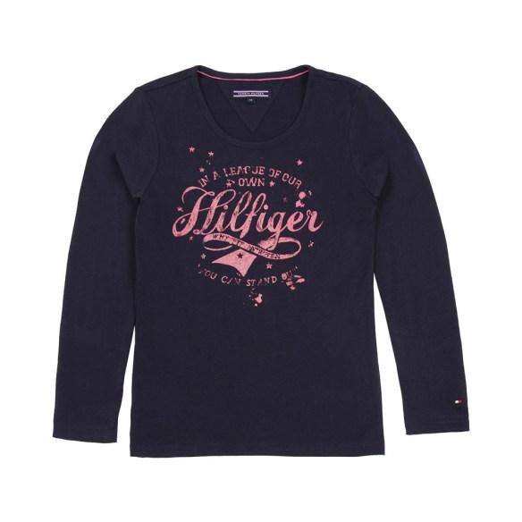 t-shirt-girls-hilfiger-blu-notte