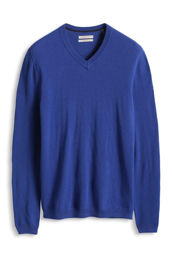 esprit shop on line idea regalo uomo maglione blu