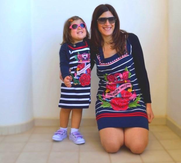 look uguale mamma e figlia