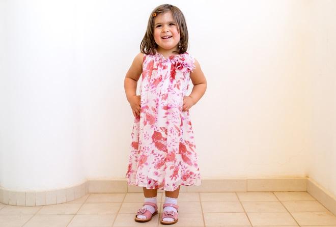 abito a fiori per bambina. abito estivo a fiori per bambina da cerimonia 297841e2c7a