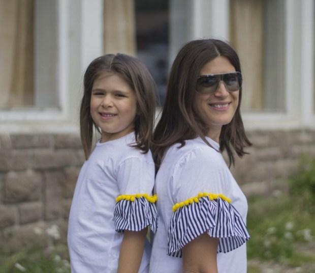 T-shirt uguali mamma e figlia
