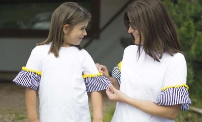 abbigliamento uguale mamma e figlia