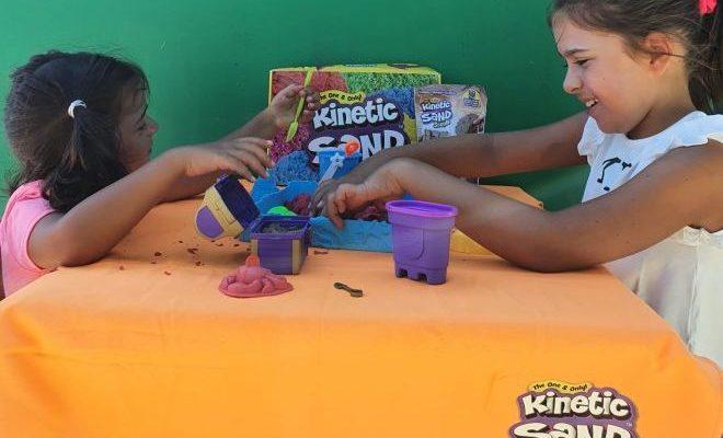 come preparare la sabbia cinetica per bambini in casa