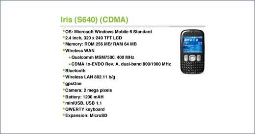HTC Iris S640
