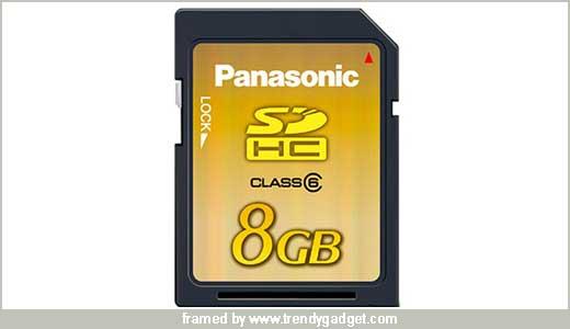 8GB Panasonic SD Memory Card