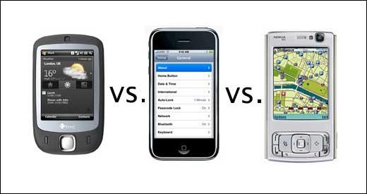 iPhone vs HTC vs N95
