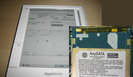 Amazon Kindle with GPS
