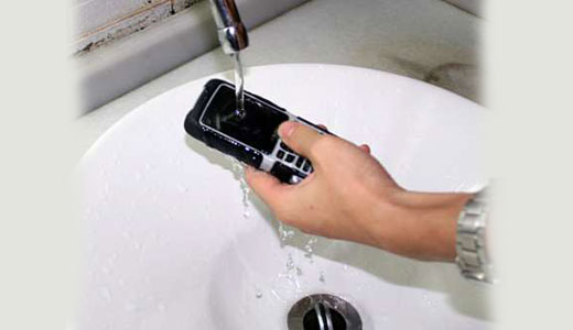 CK800 is water and shock resistant phone