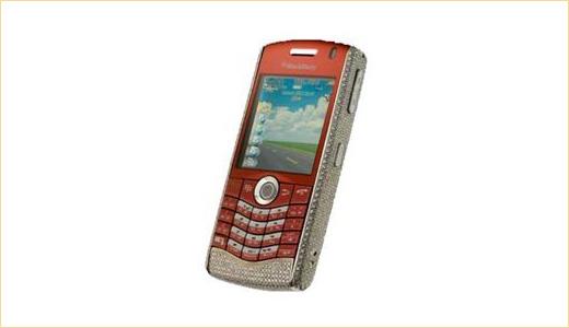 Diamond Encrusted BlackBerry Pearl