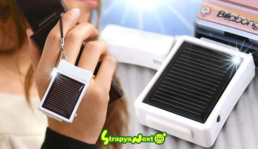 Mini Solar Charger Cell Phone Strap