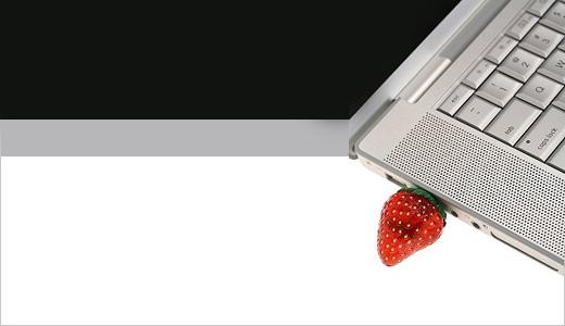 USB Flash Drive - Strawberry