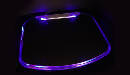 Illuminated Mouse Pad With 4 USB Ports