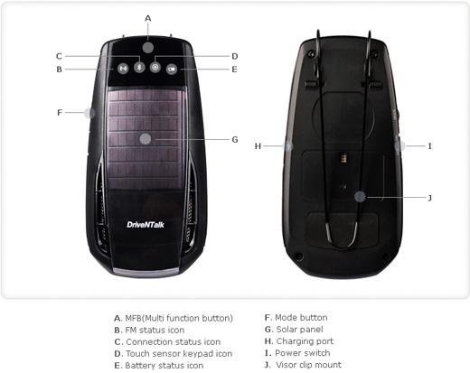 BHF-2000 Bluetooth Car Kit from Enustech