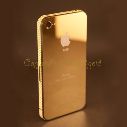 iPhone 4S 24CT Gold with Swarovsky Crystals