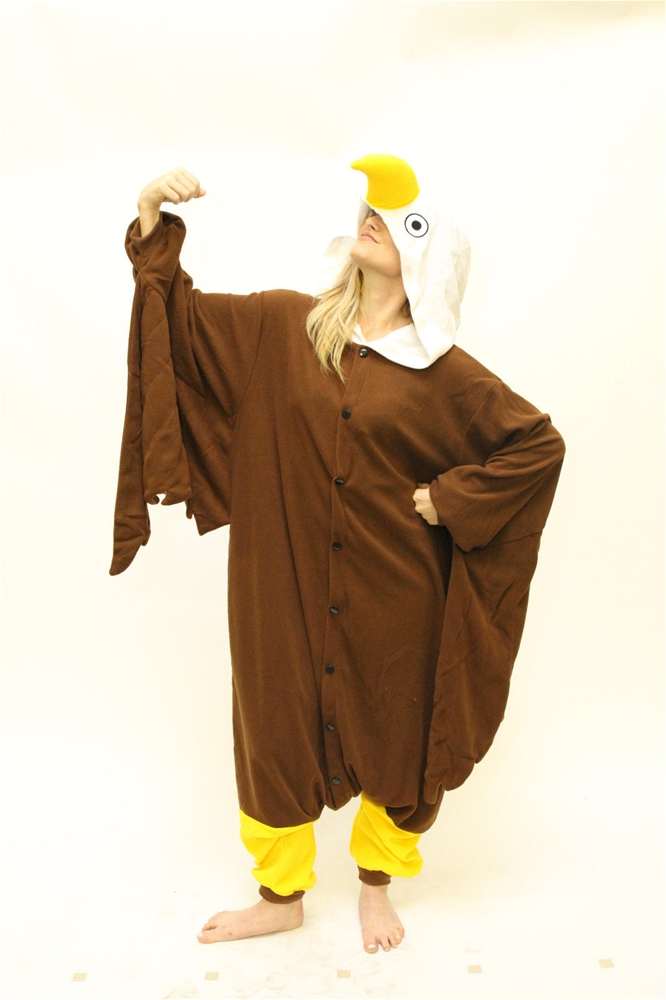 BCozy Bald Eagle Adult Unisex Onesie 392414