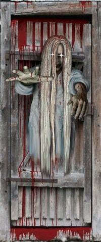 Spooky Scenes Bloody Light Up Door Decoration