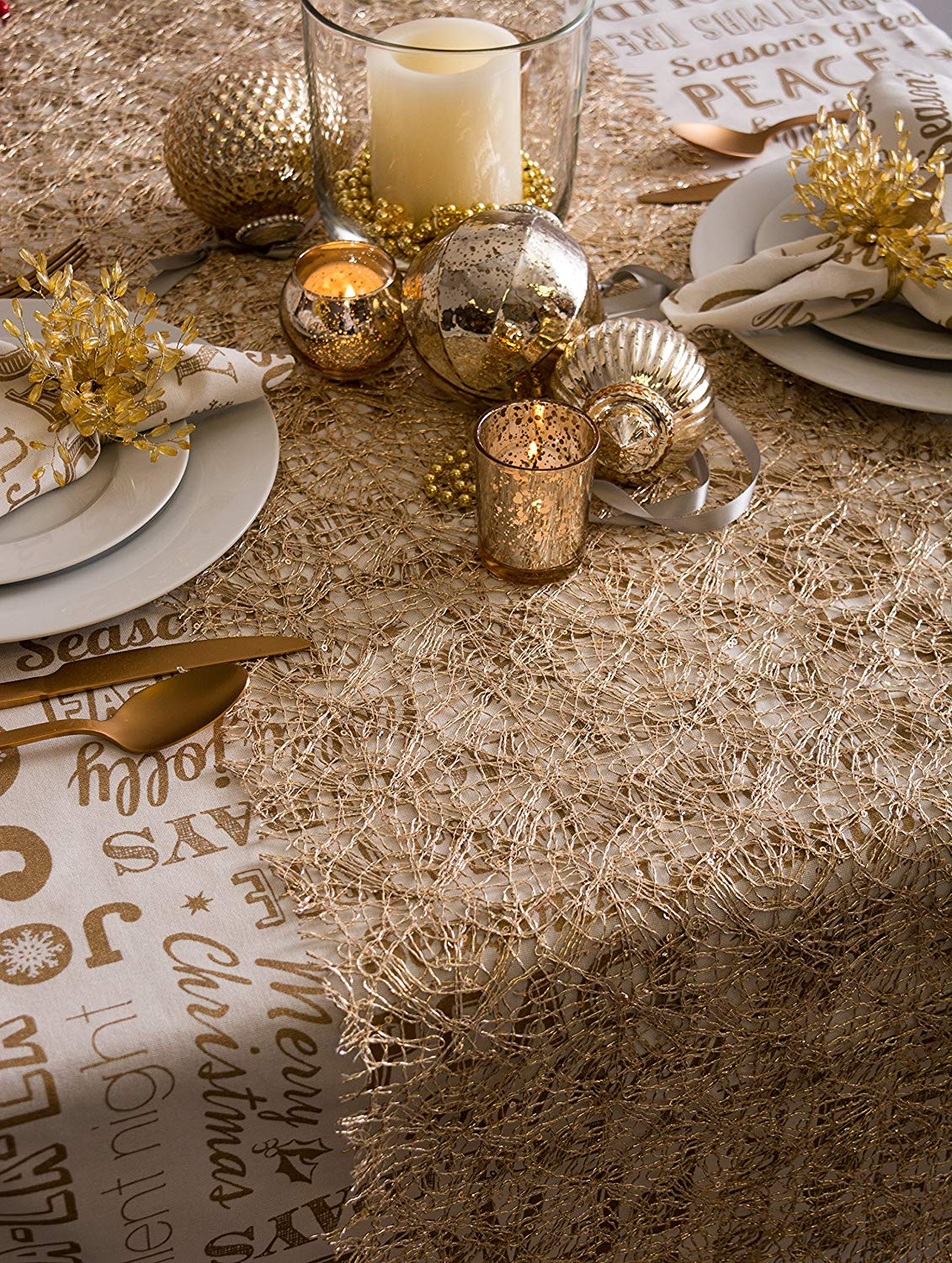 Thanksgiving & Christmas Farmhouse Style Table Runners