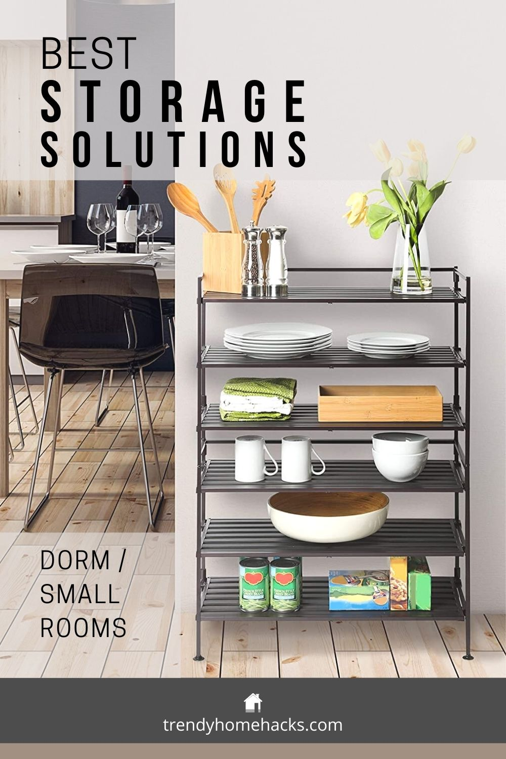 Storage solution for dorm and small rooms