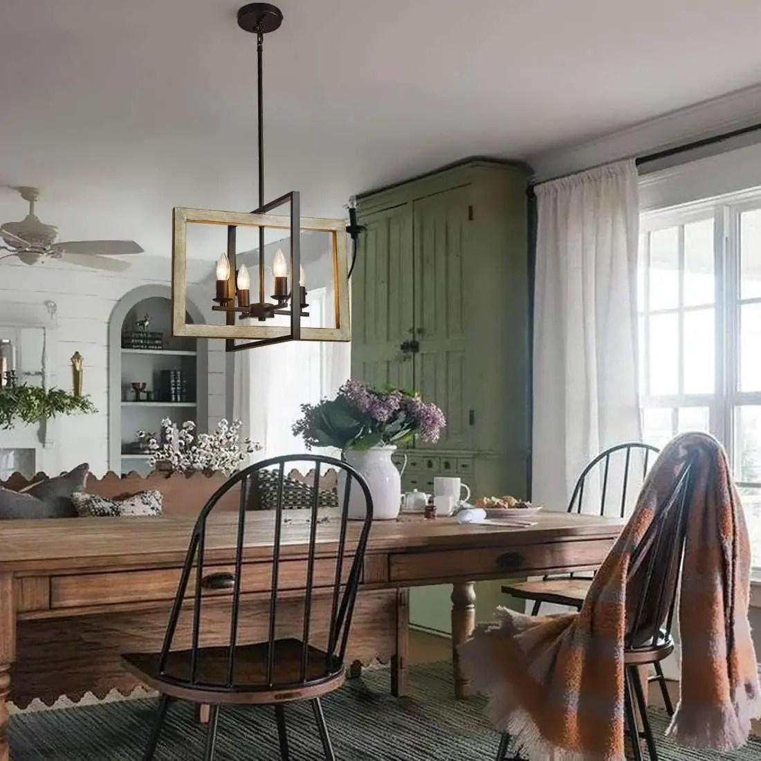 Dining-Table-Farmhouse-Light-Fixtures