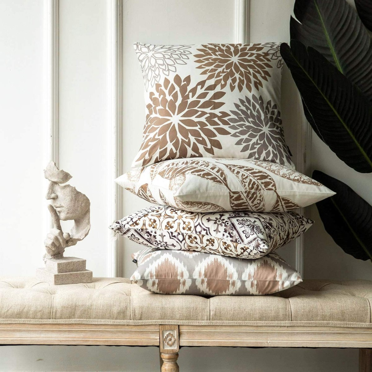 Coffee-Color-Leaves-Pillowcases