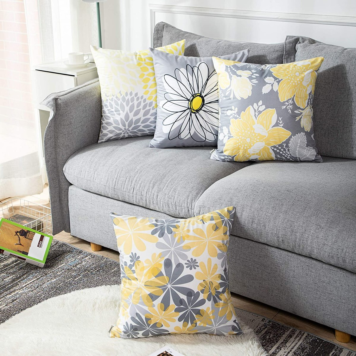 Daisy-Floral-Pillow-Covers