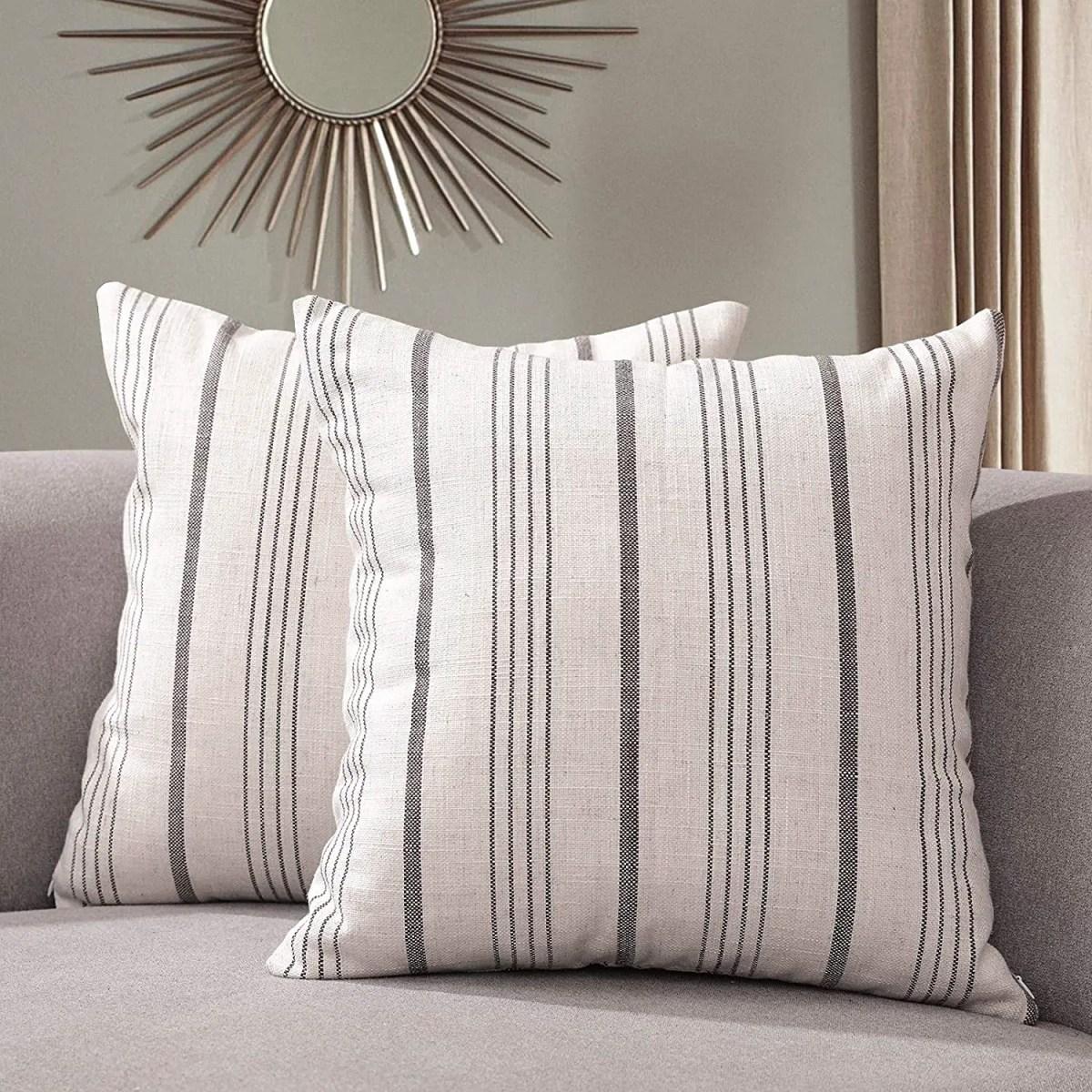 Striped-Farmhouse-Pillowcases