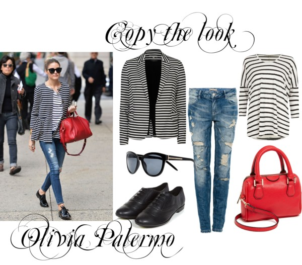 Copy the look: Olivia in stripes