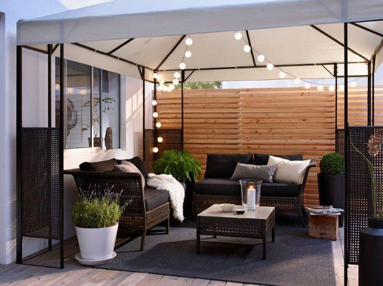 Para el suelo de la terraza: ¿césped o madera?