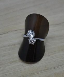 Zilveren dames ring Trento You and me online kopen   Trendy Juweeltjes