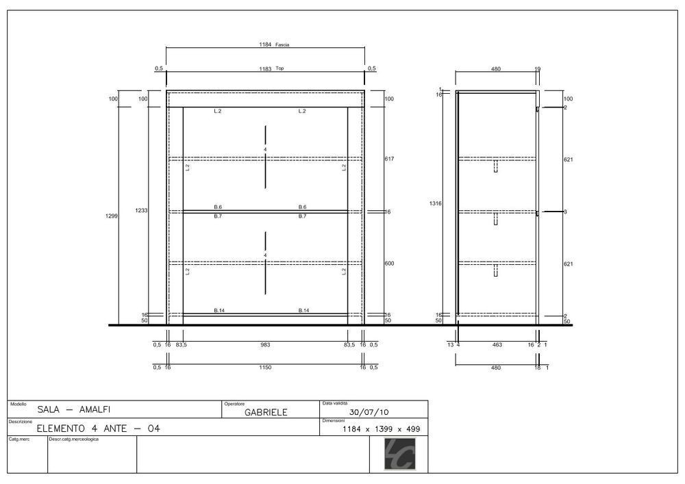 Benvenuto Design Amalfi Wandkast HG Wit kopen bij