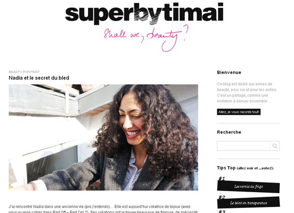 Blog : Super by Timai