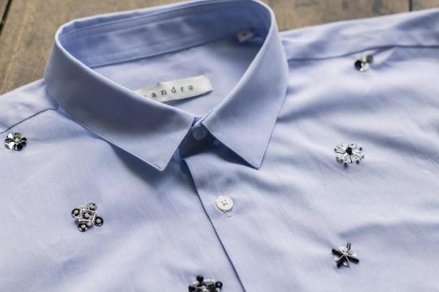 DIY chemise brodée
