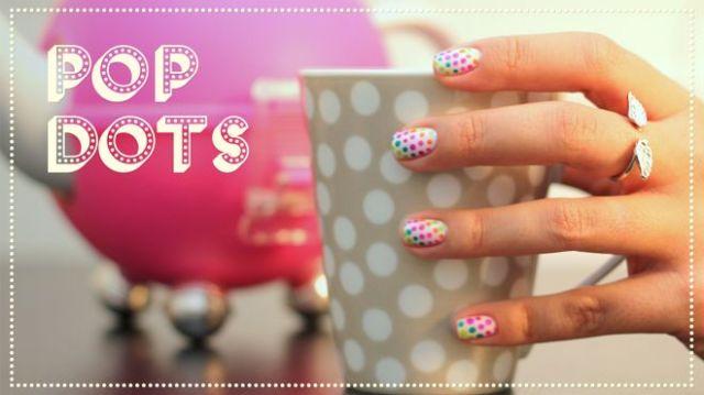 nail art pop dots