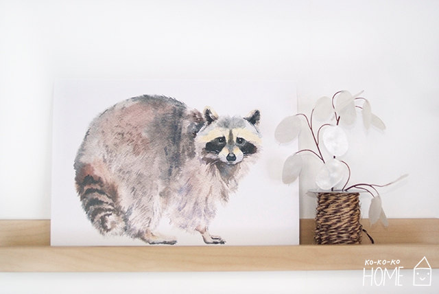 Etsy - Animal Poster Racoon