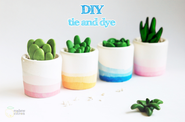 DIY Pot Tie and Dye