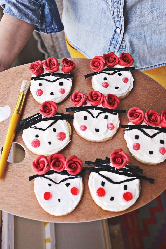 Frida Kahlo Cookies - A beautiful Mess