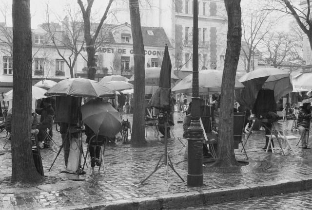 Place du Tertre - Montmartre - Nikon FM2 Illford