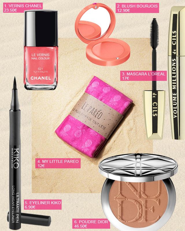 Shopping maquillage d'été