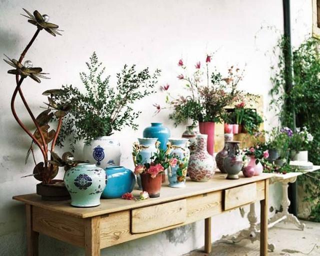 Table de fleurs