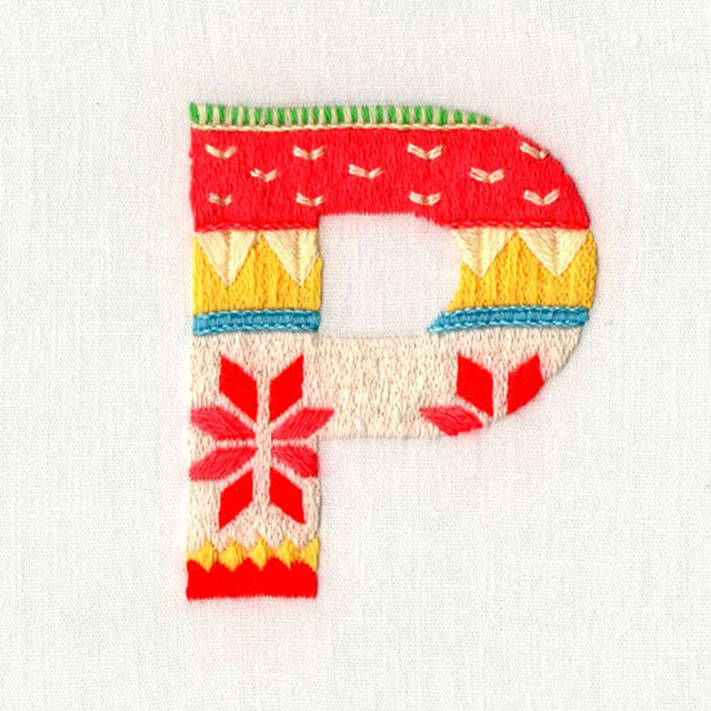 Pin Letters Embroidery