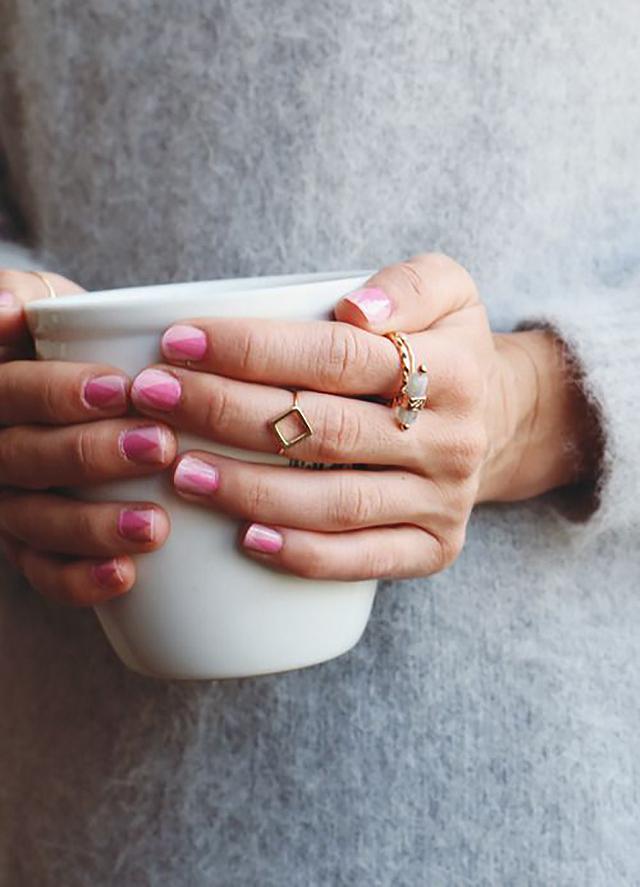 Pin Pink Nail Art