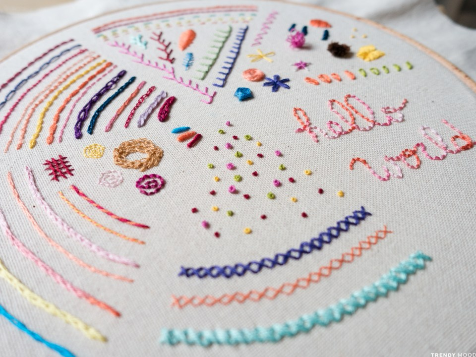 Embroidery Sampler - Detail
