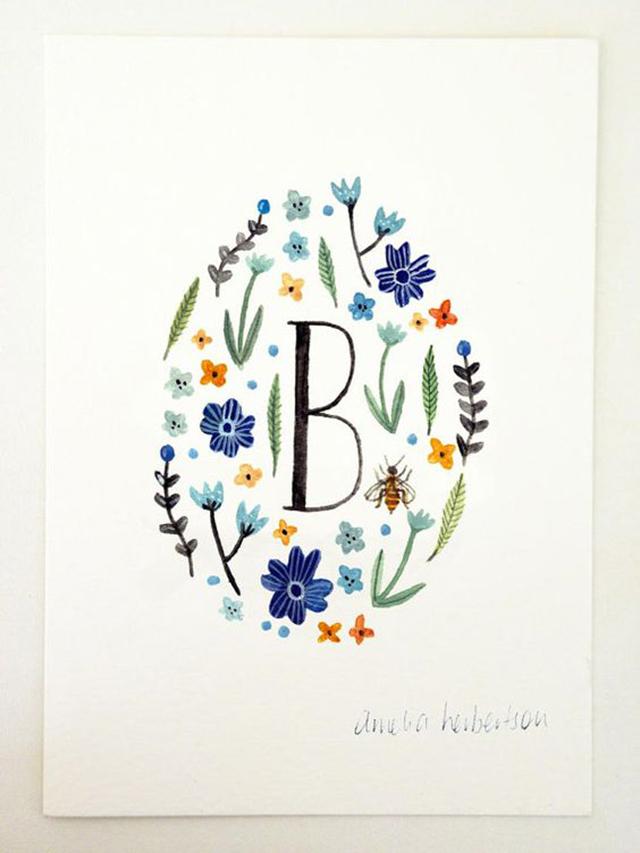 Pin Floral Art Print