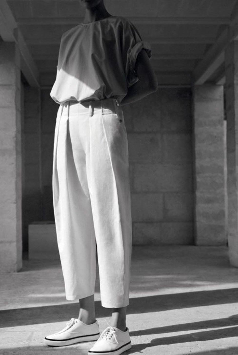 Pantalon à pinces oversize