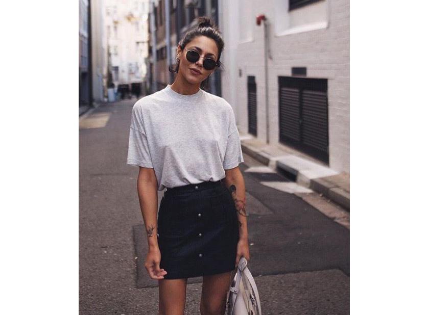 Tshirt - Jupe droite