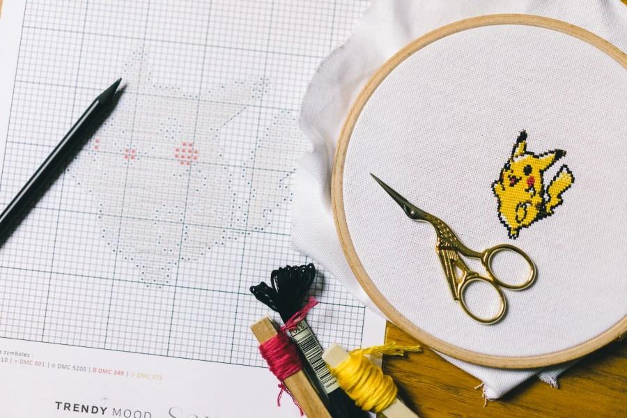 Pikachu - broderie point de croix